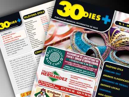 Revista 30Dies+. Reus.