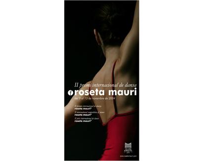 Banderola Premio Roseta Mauri. Teatro Fortuny Reus.