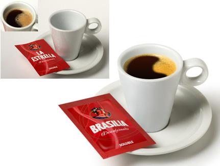 Retoque taza y sobre dosis café Brasilia.