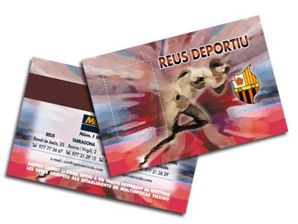 Targeta plastico Carnet Reus Deportiu. Reus.